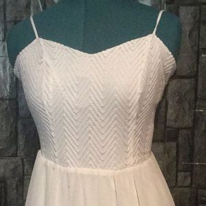 Soft white Candie dress. New know tag